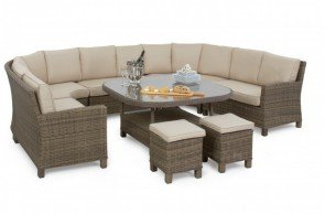 Maze Rattan - Winchester Deluxe Corner Dining Set