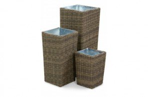 Maze Rattan Winchester Tall Planter Set