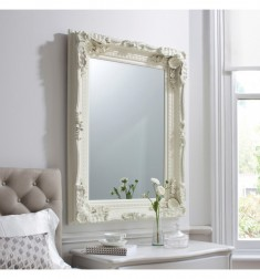 Gallery Carved Louis Leaner Mirror Cream