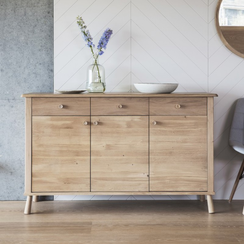 Gallery Wycombe 3 Door 3 Drawer Sideboard