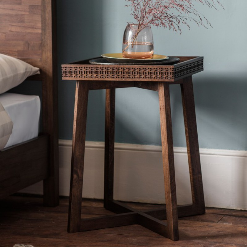 Gallery Boho Side Lamp Table