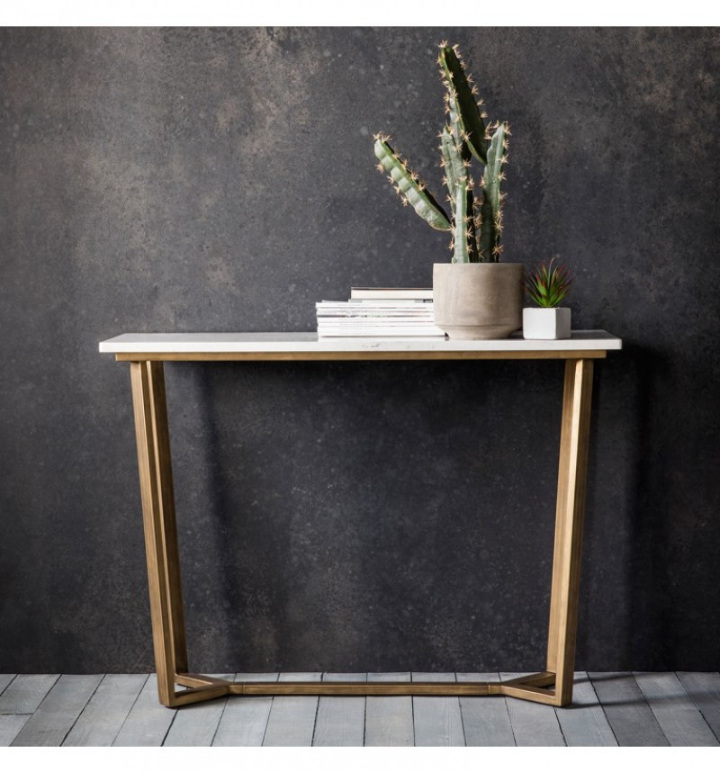 Gallery Cleo Console Table Marble