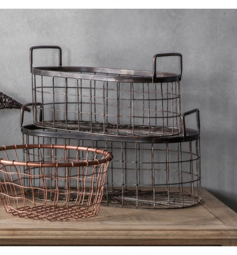 Gallery Lonnie Metal Baskets Set of 2