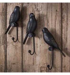 Gallery Avery Resin Bird Hooks Set of 3