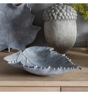 Gallery Birch Leaf Grey Weathered Decorative Bowl