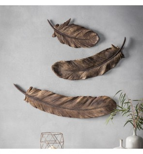Gallery Pluma Set of 3 Feather Wall Decorations