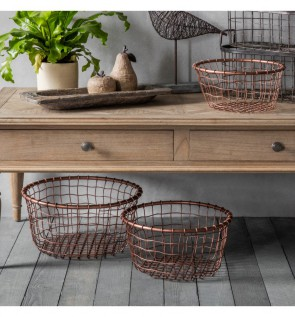 Gallery Dixon Metal Basket Set of 3