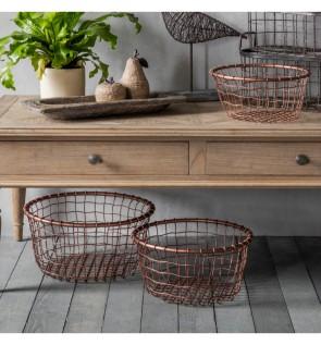 Gallery Dixon Metal Basket Set of 3