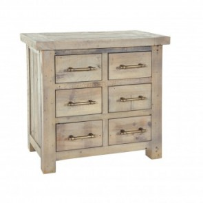 Rowico Driftwood Chest of 6 Drawers