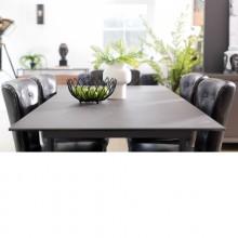 Baker Panama Dark Grey Extending Dining Table