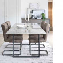 Baker Panama Light Grey Extending Dining Table