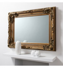 Gallery Carved Louis Leaner Mirror Gold