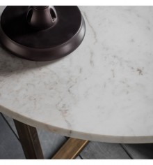 Gallery Cleo Round Coffee Table Marble
